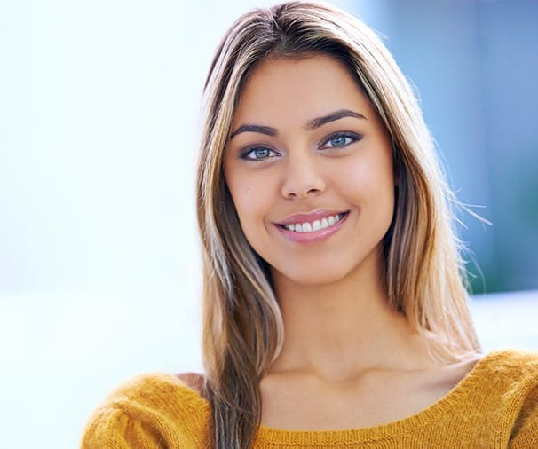 Woman with bright white smile